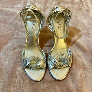Ralph Lauren Silver Heels